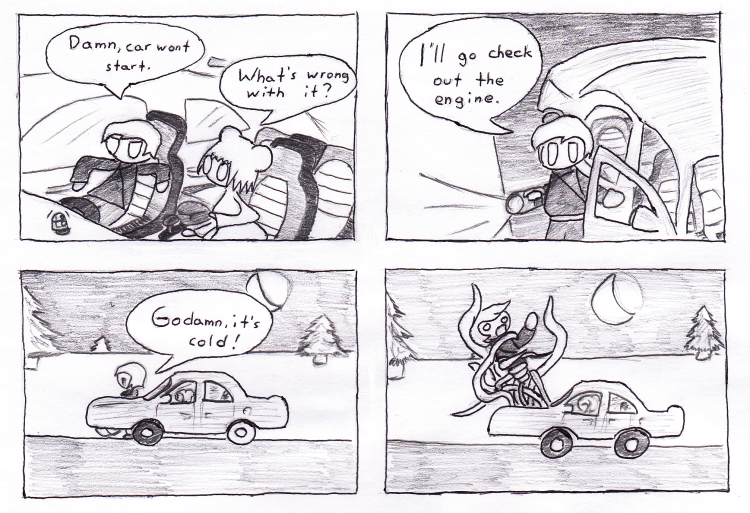 Remind me never to draw cars again unless they're being driven by cream pies.