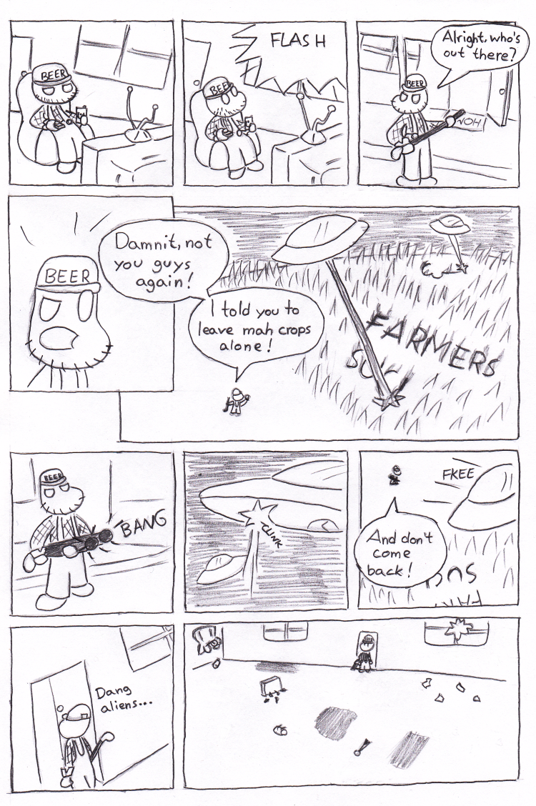 I was so tempted to leave an 'empty' onomatopoeia in the last panel.