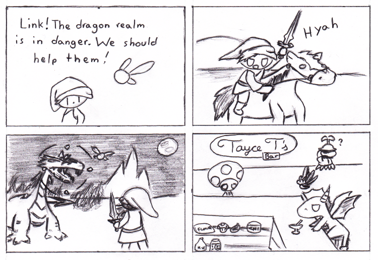 Luckily the Dragon Realms have a lot of cream pies for Epona to eat while she waits for Link to finish his adventure.