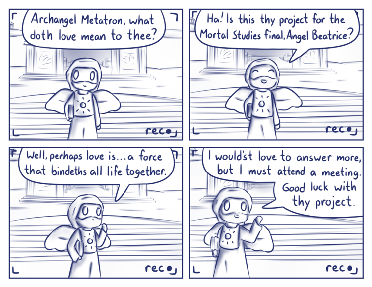 Alternatively, it's a comic about two naked eight year olds who are married.